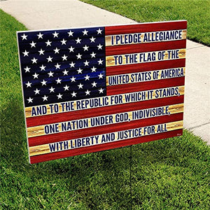 "Proud to Be an American 24""x18"" Decorative Campaign House Garden Yard Signs 