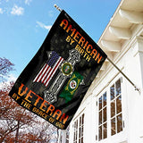 American by Birth Veteran by The Grace of God Garden Flags | House Flags | Double Sided Decorative Yard Flag For Spring Summer Fall Winter