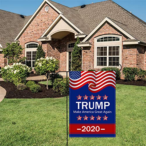 Donal Trump Train 2020 Make America Great Again President 45 Garden House Flags | Double Sided Decorative Yard Flag For Spring Summer Fall Winter