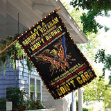 Grumpy Veteran I Served I Sacrified I Don't Regret Garden Flags | House Flags | Double Sided Decorative Yard Flag For Spring Summer Fall Winter