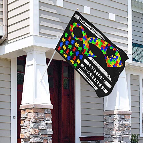 Autism Awareness Garden Flags | House Flags | Double Sided Decorative Yard Flag For Spring Summer Fall Winter