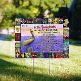 "In This Louisiana House 24""x18"" Decorative Campaign House Garden Yard Signs 