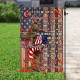 Old Rugged Cross Garden Flags | House Flags | Double Sided Decorative Yard Flag For Spring Summer Fall Winter