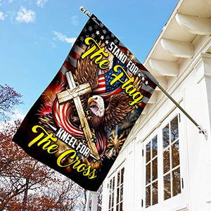Stand for The Flag Kneel for The Cross Garden Flags | House Flags | Double Sided Decorative Yard Flag For Spring Summer Fall Winter