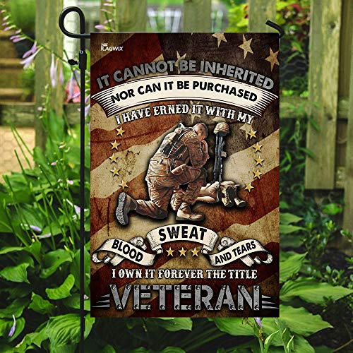 I Own It Forever The Title Veteran Garden Flags | House Flags | Double Sided Decorative Yard Flag For Spring Summer Fall Winter