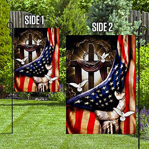 Christian Cross Garden Flags | House Flags | Double Sided Decorative Yard Flag For Spring Summer Fall Winter