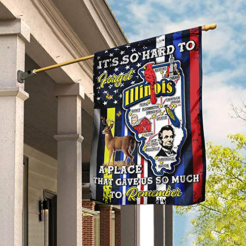 Illinois A Place That Gave Us So Much to Remember Garden Flags | House Flags | Double Sided Decorative Yard Flag For Spring Summer Fall Winter