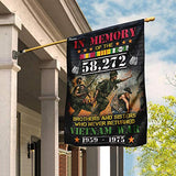 Vietnam Veteran in Memory of 58,272 Brothers and Sisters Garden Flags | House Flags | Double Sided Decorative Yard Flag For Spring Summer Fall Winter