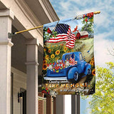 Country Roads Take Me Home Garden Flags | House Flags | Double Sided Decorative Yard Flag For Spring Summer Fall Winter