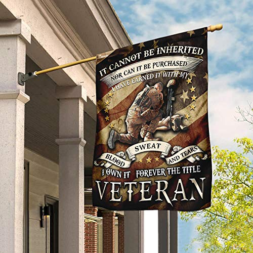 U.S Veteran Garden Flags | House Flags | Double Sided Decorative Yard Flag For Spring Summer Fall Winter