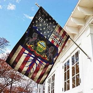 Pennsylvania Roots Garden Flags | House Flags | Double Sided Decorative Yard Flag For Spring Summer Fall Winter