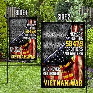 I Will Never Forget Vietnam Veteran Garden Flags | House Flags | Double Sided Decorative Yard Flag For Spring Summer Fall Winter