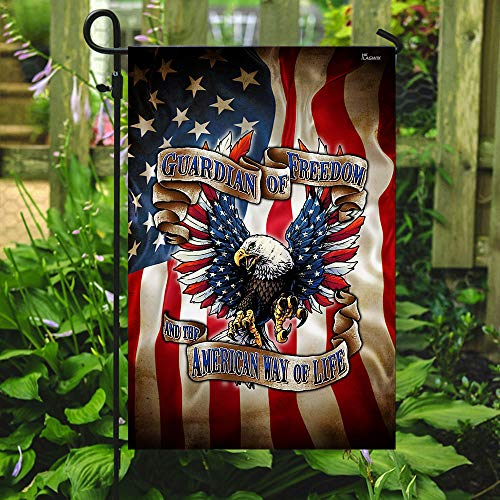 Guardian of Freedom American Eagle Garden Flags | House Flags | Double Sided Decorative Yard Flag For Spring Summer Fall Winter
