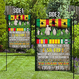 Vietnam Veterans. in Memory of Brothers and Sisters Garden Flags | House Flags | Double Sided Decorative Yard Flag For Spring Summer Fall Winter