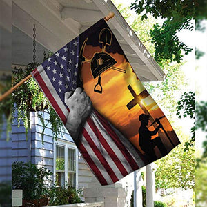 Coal Miner Garden Flags | House Flags | Double Sided Decorative Yard Flag For Spring Summer Fall Winter