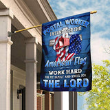Postal Worker Christian Cross Garden Flags | House Flags | Double Sided Decorative Yard Flag For Spring Summer Fall Winter