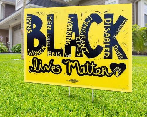 All Black Live Matter Yard Signs Decorative Campaign House Garden Yard Signs | Lawn Signage