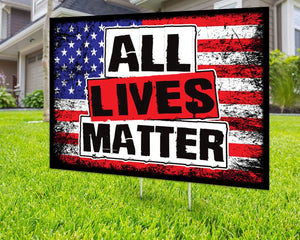 All Lives Matter Yard Sign Decorative Campaign House Garden Yard Signs | Lawn Signage