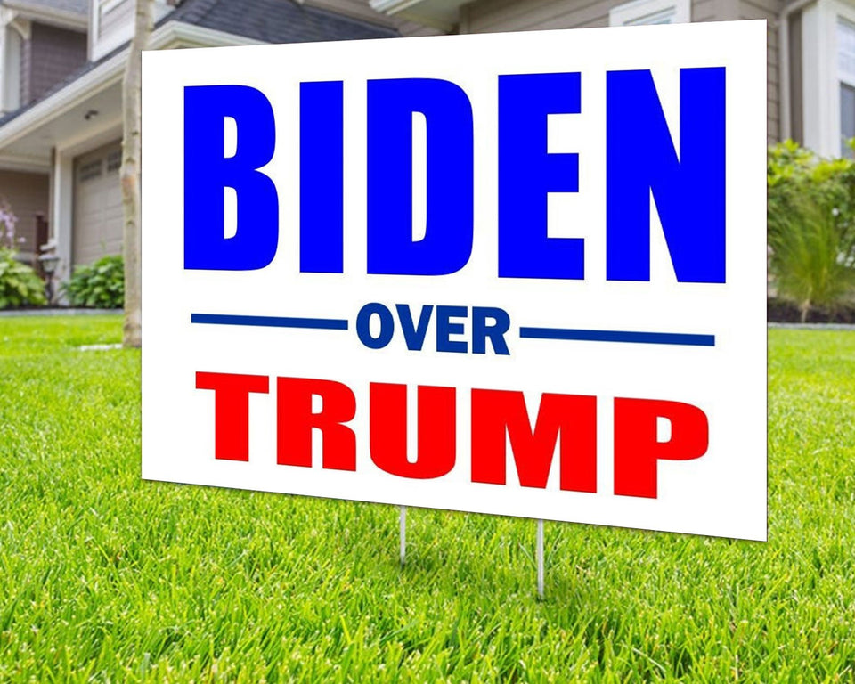 Biden Over Trump 2020 Yard Sign Decorative Campaign House Garden Yard Signs | Lawn Signage 2