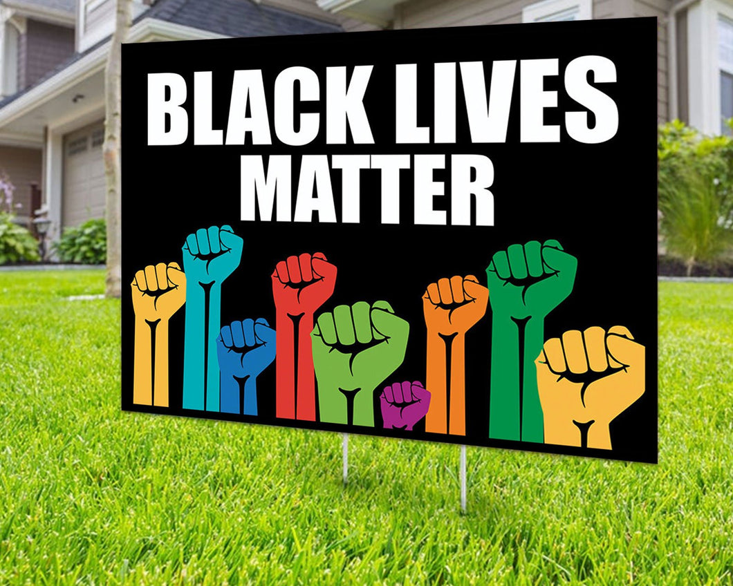 Black Lives Matter Anti Racism Yard Sign Decorative Campaign House Garden Yard Signs | Lawn Signage