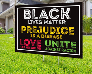 Black Lives Matter Love Is Love Yard Sign Decorative Campaign House Garden Yard Signs | Lawn Signage