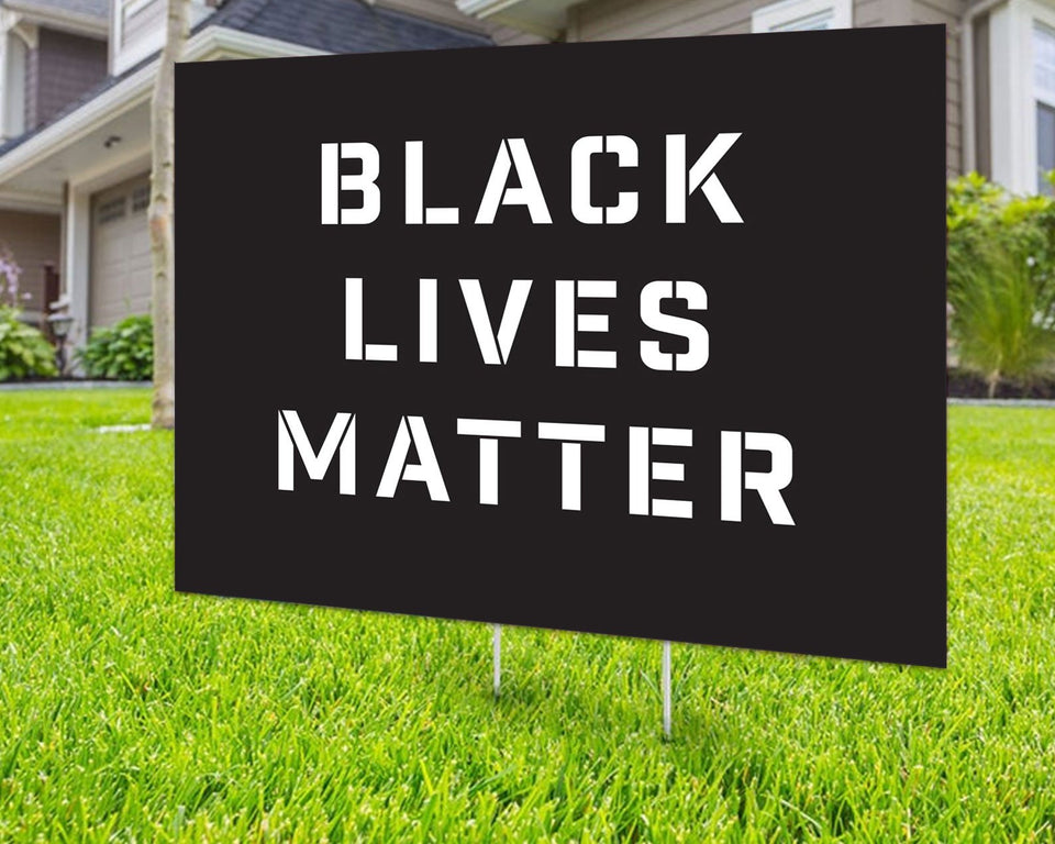 Black Lives Matter Yard Sign Decorative Campaign House Garden Yard Signs | Lawn Signage 10