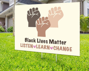 Black Lives Matter Yard Sign Decorative Campaign House Garden Yard Signs | Lawn Signage 6