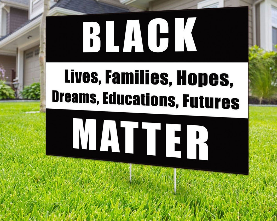 Black Lives Matter In this House - Yard Sign Decorative Campaign House Garden Yard Signs | Lawn Signage