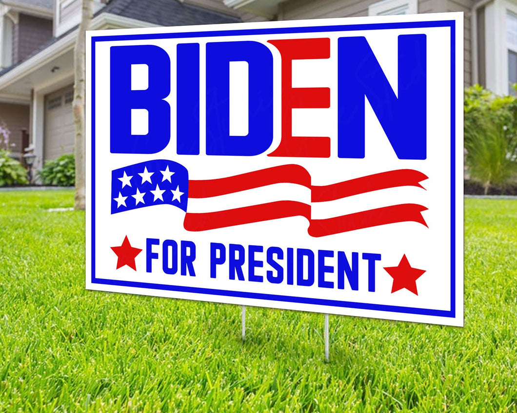 Joe Biden For President Political Campaign 2020 Election American Decorative Campaign House Garden Yard Signs | Lawn Signage