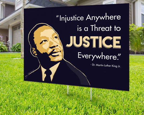 Martin Luther King Justice Yard Sign Decorative Campaign House Garden Yard Signs | Lawn Signage
