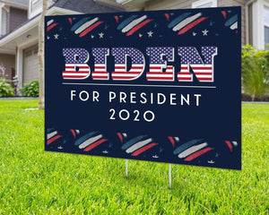 Joe Biden For President 2020 Political Campaign Yard Sign Decorative Campaign House Garden Yard Signs | Lawn Signage