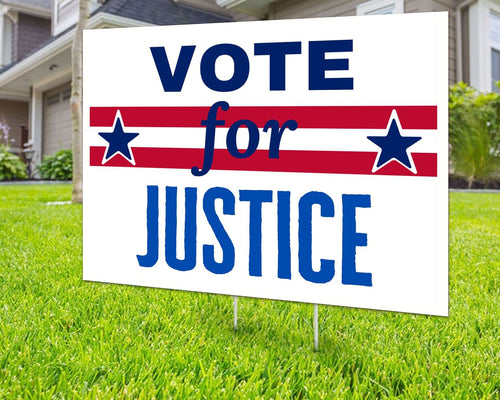 Vote for Justice Yard Sign Decorative Campaign House Garden Yard Signs | Lawn Signage