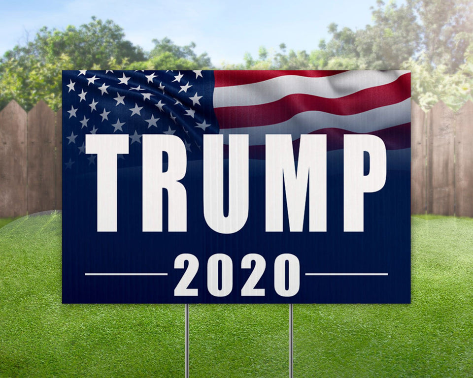 Trump 2020 Yard Sign Decorative Campaign House Garden Yard Signs | Lawn Signage