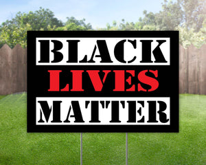 Black Lives Matter Yard Sign Decorative Campaign House Garden Yard Signs | Lawn Signage 11