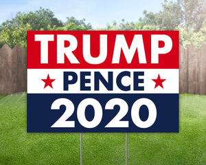 Trump Pence 2020 Political Campaign Yard Sign Decorative Campaign House Garden Yard Signs | Lawn Signage