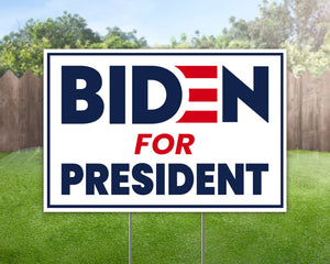Joe Biden For President 2020 - Yard Sign Decorative Campaign House Garden Yard Signs | Lawn Signage
