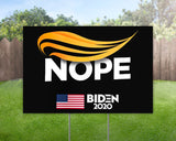 Trump No Nope Joe Biden For President 2020 Yard Sign Decorative Campaign House Garden Yard Signs | Lawn Signage
