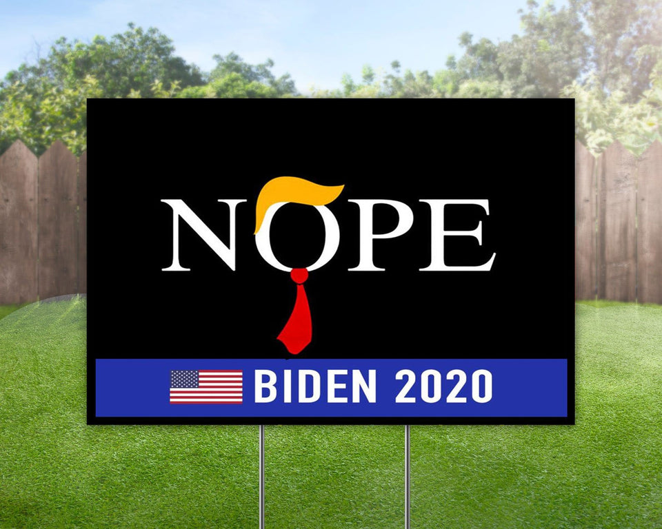 Trump No Nope  Biden 2020 Yard Sign Decorative Campaign House Garden Yard Signs | Lawn Signage