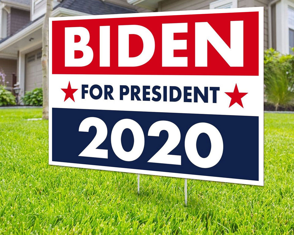Biden For President 2020 Yard Signs Decorative Campaign House Garden Yard Signs | Lawn Signage