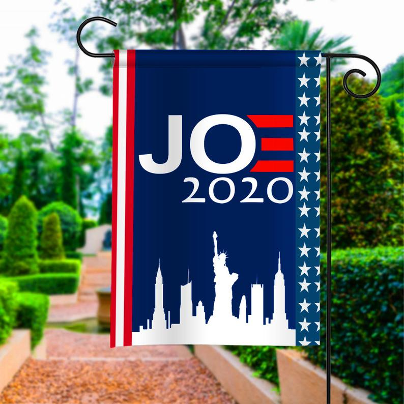 Joe Biden For President Election 2020 Political Garden House Flags | Double Sided Decorative Yard Flag For Spring Summer Fall Winter