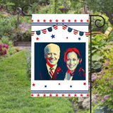Joe Biden Harris Kamala President 2020 Peace Political Garden House Flags | Double Sided Decorative Yard Flag For Spring Summer Fall Winter