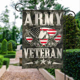 Army Veterans Vintage American Garden Flags | House Flags | Double Sided Decorative Yard Flag For Spring Summer Fall Winter