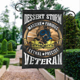 Desert Storm Veteran Massive Furious Lethal Precise Garden Flags | House Flags | Double Sided Decorative Yard Flag For Spring Summer Fall Winter
