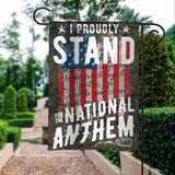 Veterans I Stand For The National Anthem This Is How I Kneel Garden House Flags | Double Sided Decorative Yard Flag For Spring Summer Fall Winter