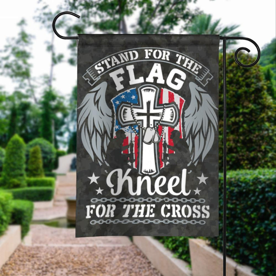 Stand For Flag Kneel For Cross Garden Flags | House Flags | Double Sided Decorative Yard Flag For Spring Summer Fall Winter