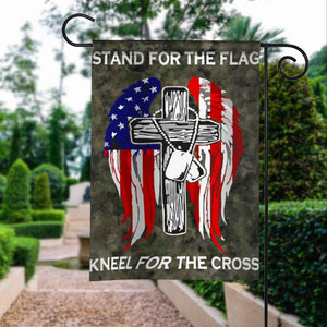 Stand For Flag Kneel For Cross Christian Garden Flags | House Flags | Double Sided Decorative Yard Flag For Spring Summer Fall Winter