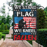 Stand For Flag Kneel For The Fallen Garden Flags | House Flags | Double Sided Decorative Yard Flag For Spring Summer Fall Winter