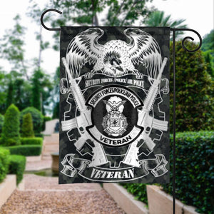 US Veterans Security Force Police Air Force Garden Flags | House Flags | Double Sided Decorative Yard Flag For Spring Summer Fall Winter
