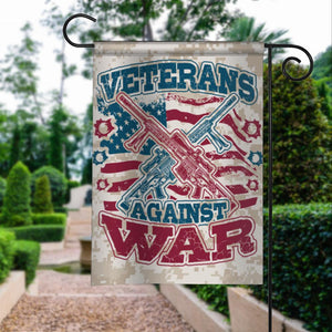 Veterans Against War Garden Flags | House Flags | Double Sided Decorative Yard Flag For Spring Summer Fall Winter