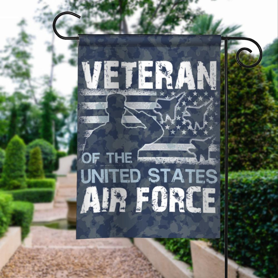 Veterans Air Force American Vintage Garden Flags | House Flags | Double Sided Decorative Yard Flag For Spring Summer Fall Winter